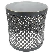 round metal accent table similar threshold accent table round metal cutout black corranade metal outdoor accent