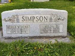 Hilda Simpson (Unknown-2005) - Find A Grave Memorial