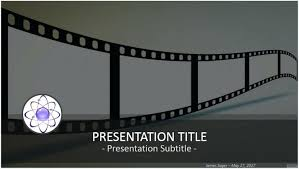 Movie Powerpoint Template The End Of The Movie Template Movie Powerpoint Template