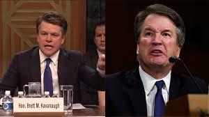 Matt Damon plays a belligerent Brett Kavanaugh on SNL