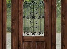 wrought iron door inserts rustic entry door with wrought