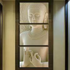 Modern Wall Paintings Living Room Aliexpresscom Buy Framed Art Modern Buddha Painting 3 Picture