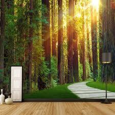 Natuur Behang Slaapkamer Minimalistische Natuur Boom 3d Landschap