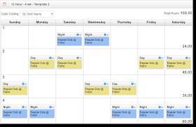 5 Person Rotating Schedule 7 Different 12 Hour Shift Schedule Examples To Cover Round