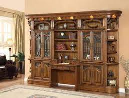 office library furniture. Barcelona Library Wall With Desk - Home Office Furniture C
