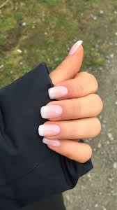 Ombre French Manicure Nails T Nehty Krtk A Cloudy Ombre Arttonail