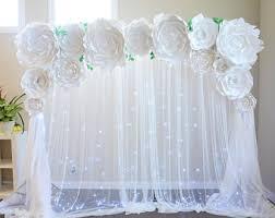 How To Make Paper Flower Backdrop Diy Large Paper Flower Rome Fontanacountryinn Com