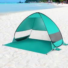 <b>Automatic Pop Up Beach Tent</b> Cabana <b>Portable</b> UPF 50+ Sun ...