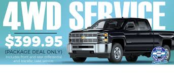 get your 4wd service for 399 95 until november 30th