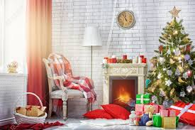 Living Room Decorations For Christmas A Beautiful Living Room Decorated For Christmas Stock Photo