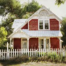 farmhouse decor rustic photography cottage chic wall art print red farmhouse photograph