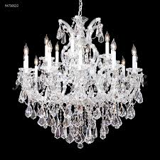 maria theresa royal 19 light crystal chandelier in silver with imperial crystal clear