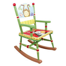 wooden rocking chair. Amazon.com: Fantasy Fields - Sunny Safari Animals Thematic Kids Wooden Rocking Chair | Imagination Inspiring Hand Crafted \u0026 Painted Details Non-Toxic, R