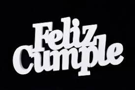 Frase Feliz Cumple Chico Crudo X100 Telgopor