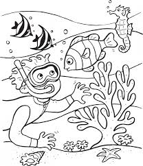 Under The Sea Coloring Pages For Kids With Free Printable Ocean