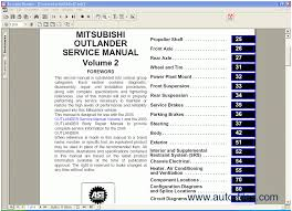 mitsubishi outlander 2005 repair manuals wiring diagram repair manuals mitsubishi outlander 2005 2