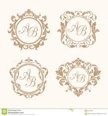 digital monogram rustic wreath set of elegant floral monograms set of elegant floral monograms