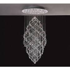 modern glass crystal hanging chandelier