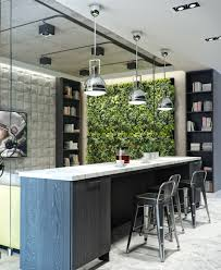 Vertical Kitchen Garden 3 Inspiring Homes With Concrete Ceilings And Wood Floors