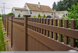 brown vinyl fencing.  Fencing Brown PVC Vinyl Privacy Fence From Illusions With Fencing E