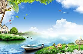 beautiful background images nature. Plain Beautiful The Natural Beauty Of The River Boat Green Grass Flowers Background Printing And Beautiful Background Images Nature U
