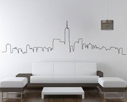 home wall stickers on new york skyline wall art stickers with nyc skyline new york city skyline wall sticker city skyline