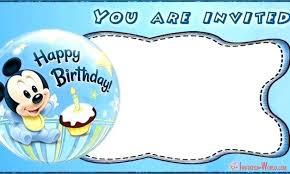 Mickey Mouse Birthday Invitation Templates Party Maker