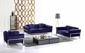 nice mid century modern living room furniture ideas with navy blue sofa and chair plus gray