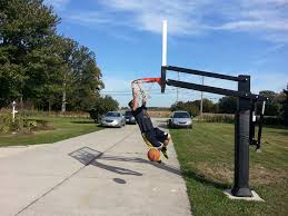 pro dunk hoops. Competitive Teenager Dunks, Side View Pro Dunk Hoops 0