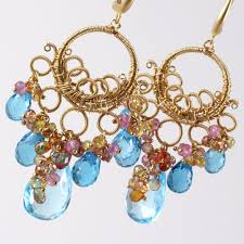 hand crafted k gold swiss london blue topaz wire wrapped lighting ideas david yurman renaissance chandelier earrings