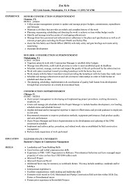Construction Superintendent Resume Example Job Sample Cover Resumes