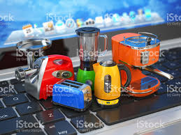 Warehouse Kitchen Appliances Ecommerce Online Shopping Home Kitchen Appliances On Computer