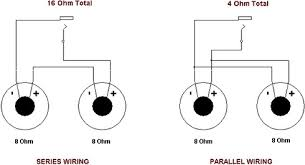 i have four ohm speakers connected in parallel to my connect amp to make a two speaker 8 ohm cabinet wire two 4 ohm speakers in series or two 16 ohm speakers in parallel