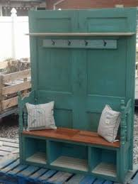 Front Door Bench With Coat Rack Use Two Doors To Make Into Entry Way Benchcoat Rack Or Could Just 99