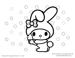 Small Picture coloring pages of my melody for hello kitty Would You Like To