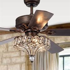 warehouse of tiffany pilette 52 inch 5 blade ceiling fan with crystal shade lowe s canada
