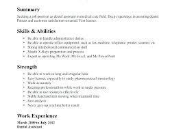 Sample Resume Dentist Letter Resume Collection
