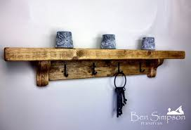 coat rack shelves shelf chunky rustic wooden coat stand