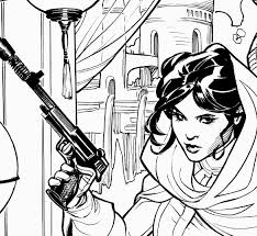 The Bombshellter Closer Look At Rachel S Inks On Princess Leia 2 Princess Leia Coloring Book L