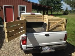 diy truck bed new wooden stake sides for a pickup truck small livestock hay or