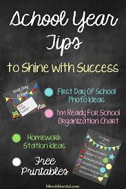 School Charts Ideas School Year Tips To Shine With Success Life With Lorelai
