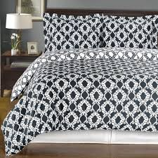 moroccan medallion black and white bedding set picture