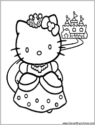 Hello kitty coloring pages, & invitations. Hello Kitty 36794 Cartoons Printable Coloring Pages