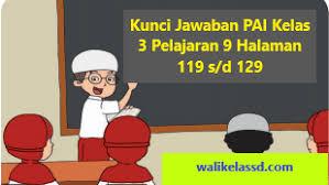 Kelas 08 smp pendidikan agama islam dan budi pekerti siswa. Kunci Jawaban Pai Kelas 3 Pelajaran 9 Halaman 119 120 121 123 124 128 129 Wali Kelas Sd