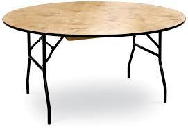 48 h round plywood folding table with locking wishbone style legs