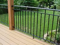decorative railings. deck wrought iron railing, 3 channel design, alternating twists decorative railings t