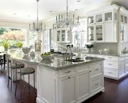 white cabinets with gray countertops kitchen ideas