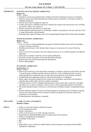 Apprentice Sample Resumes Machinist Apprentice Resume Samples Velvet Jobs 14