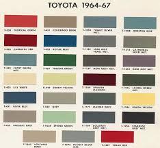Toyota Trim Code Chart Cruiser Color Codes Paint Color Chart Toyota Toyota Fj40