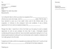 Writing Two Weeks Notice Printable Two Weeks Notice Writing Letter Of Resignation From Work